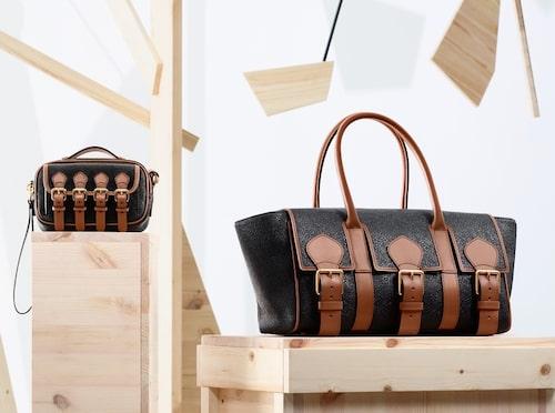 Acne/Mulberry-väskorna kommer i flera storlekar.