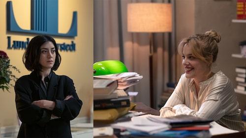 Gizem Kling Erdogan och Ida Engvoll i Netflix originalserie Kärlek och anarki.