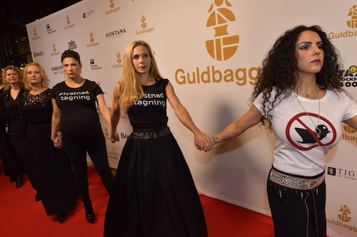 Tillsammans med sina branschsystrar i metoo-uppropet #tystnadtagning.