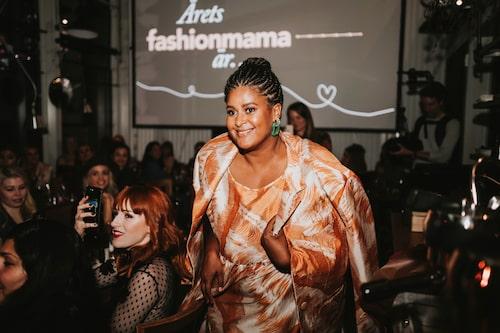 Årets fashionmama blev Joanna Lemnelius som ligger bakom klädmärket Mixed Grill Banjul.