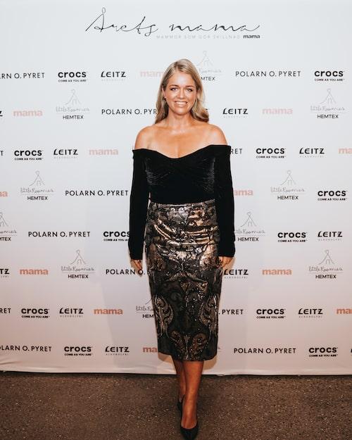 Kvällens toast madame var programledaren och modeentreprenören Ebba Kleberg von Sydow.