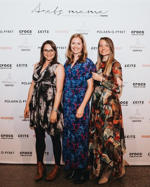 Delar av mama-redaktionen: Feature-redaktör Lisa Nylén, magasinsredaktör Carin Carlgren och innehållschef Linnea Isaksson.
