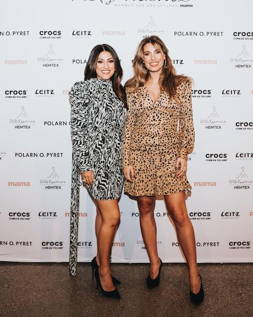 Idol-juryns Nikki Amini och kändisstylisten Sara Biderman strålade i kapp.