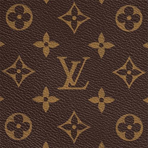 Det klassiska monogrammet för Louis Vuitton, skapat av Georges Vuitton år 1896.