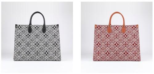 """Louis Vuittons nya monogrammönser """"Since 1854"""" i två färgställningar på väskmodellen Onthego."""