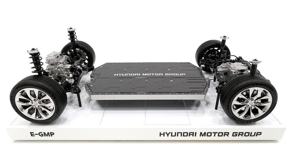 Nya elbilsplattformen E-GMP ska vara grunden i elva nya elbilar från Kia, Hyundai och Genesis.