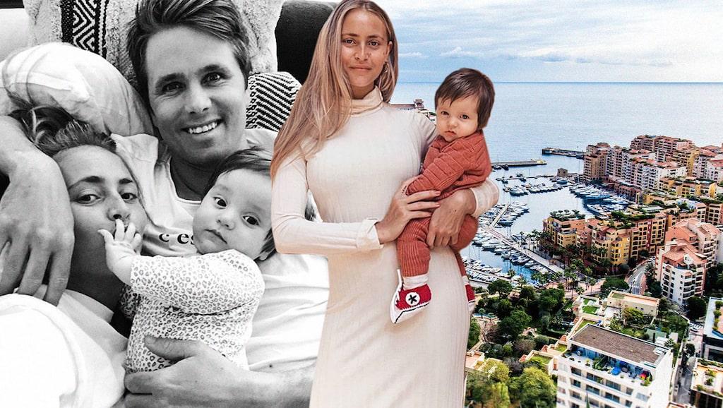 Janni och Jon Olsson Delér bor i Monaco med sonen Leon.
