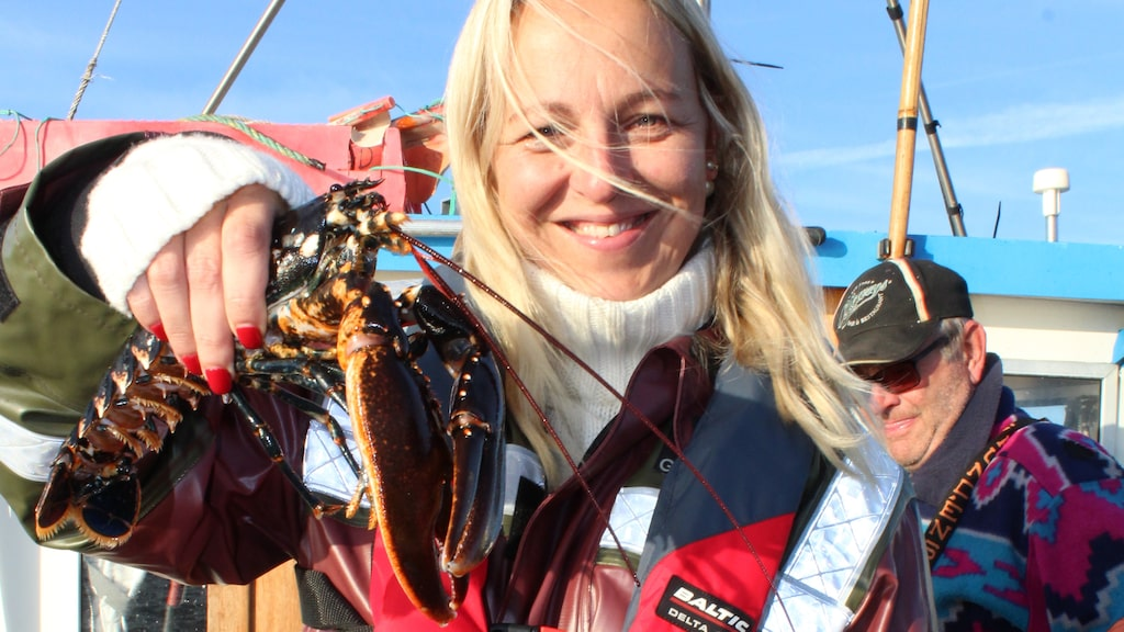 Jonna Bergh under hummerpremiären på Koster 2019