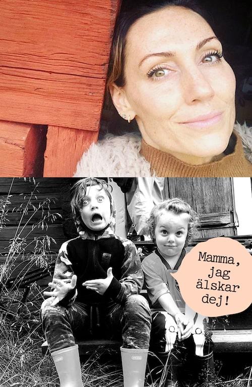 När barnen säger gulliga saker smälter Lina Hedlund.