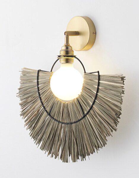 Lampa Camb i mässing och gräs, 40 cm bred, Aromas Posh living.