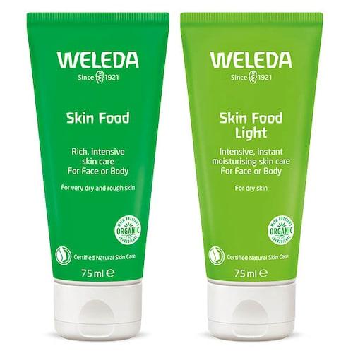 Skin Food och Skin Food Light är bra för att få till den rätta lystern.