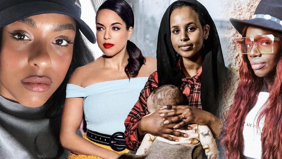 Amie Bramme Sey, Elaine Eksvärd, Bilan Osman och Isatou Aysha Jones kämpar alla mot rasism – i poddar, tidningar, bloggar, sociala medier och aktioner.