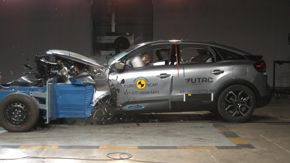 Euro NCAP-krocktest av Citroën C4, frontalkollision.