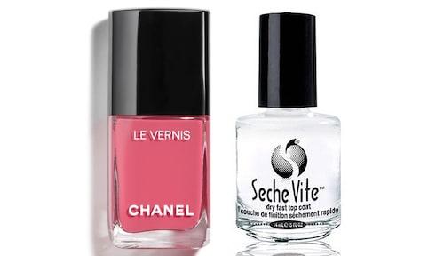 Nagellack från Chanel och Seche vite.