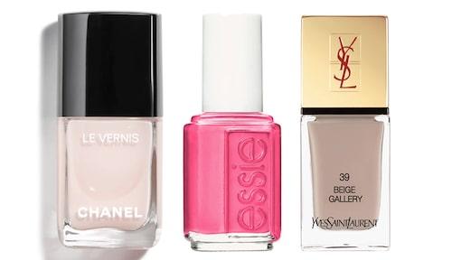 Nagellack från Chanel, Essie och YSL.