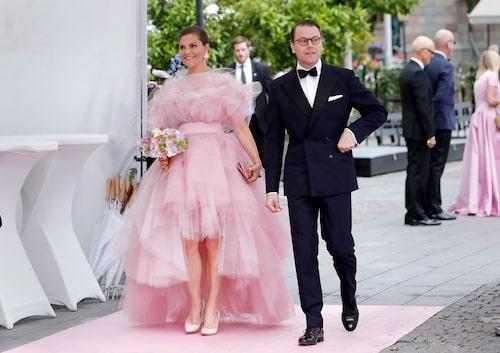 Kronprinsessan Victoria och prins Daniel under Polarpriset 2019.