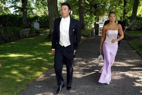 Daniel och Victoria på Andrea Brodins bröllop 2003.