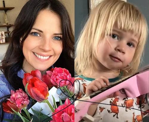 Malin Olsson och dottern Blanka, 3 år.