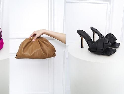 Skor från Balenciaga, väska och skor från Bottega Veneta finns att hyra hos Gemme Collective.