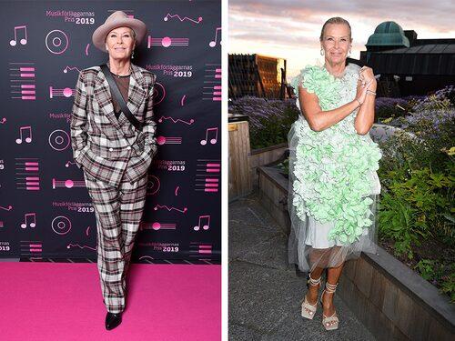 Kostym eller klänning – dagsformen avgör Efva Attlings outfit.