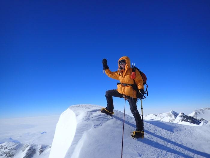 Seven summits: På toppen av Mount Vision, Antarktis, 2014. (Renata besteg sex berg på sju månader under detta år).
