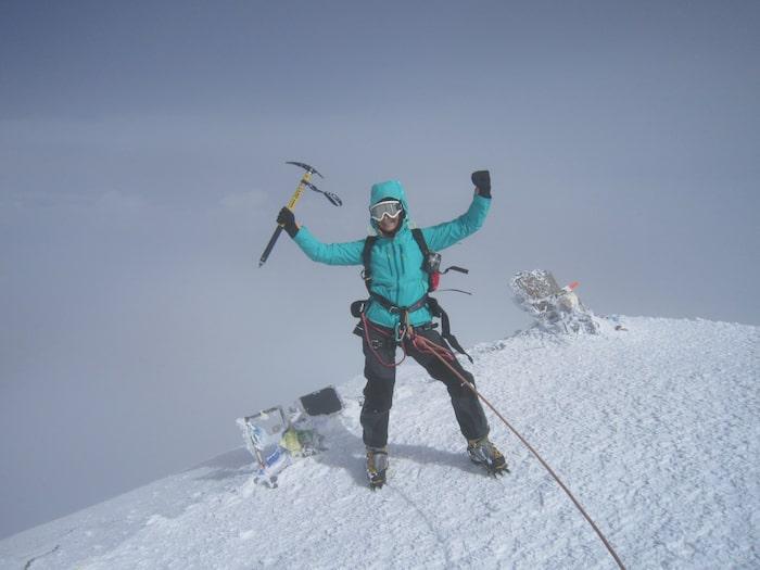 På Elbrus i Ryssland, Europas högsta berg, 2014.