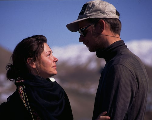 Renata Chlumska och Göran Kropp under Sweden-Everest Solo Expedition i Pakistan.