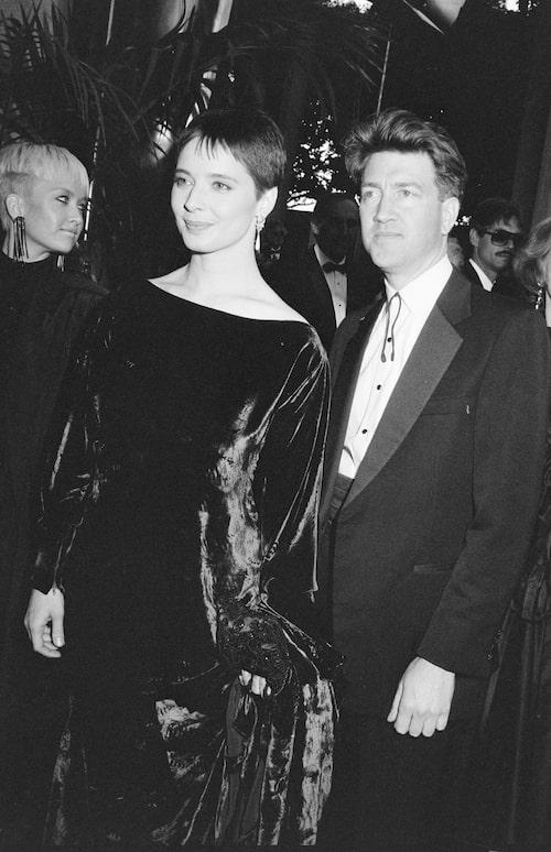 Med tidigare pojkvännen David Lynch på Oscarsgalan.