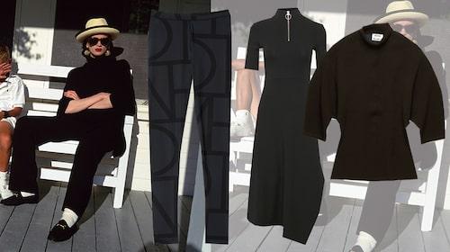 Byxor från Totême, klänning från Inwear, topp från Acne Studios.
