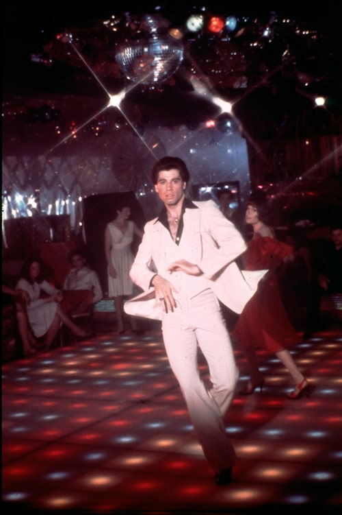 John Travolta i Saturday Night Fever 1977.