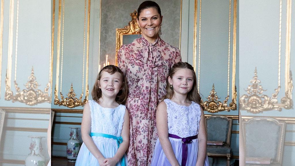 Kronprinsessan Victoria ger oss ordentliga vårkänslor med sitt rosa, blommiga set.