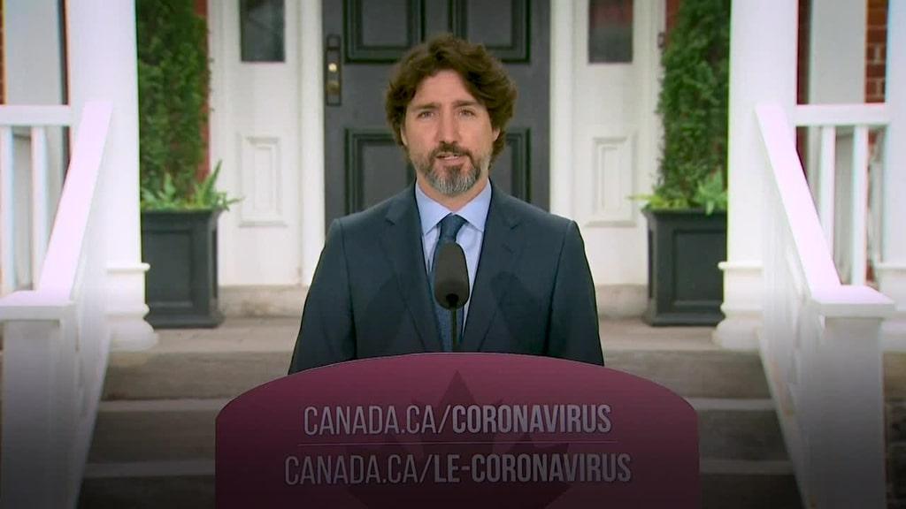 Justin Trudeau tystnade i 22 sekunder efter fråga om Donald Trump