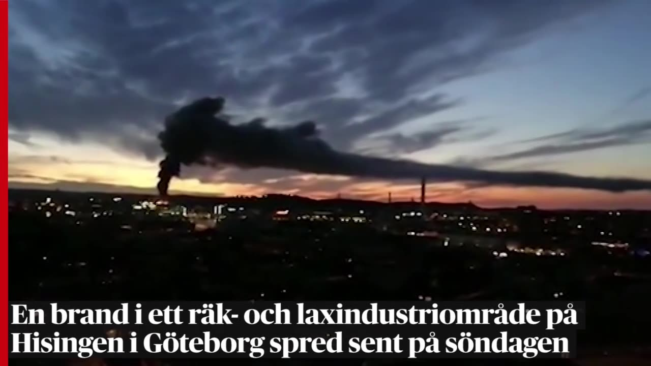 Brand pa flygplan till goteborg