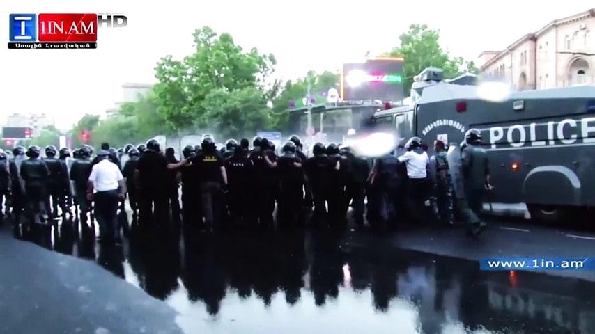 Elprotesterna i armenien fortsatter