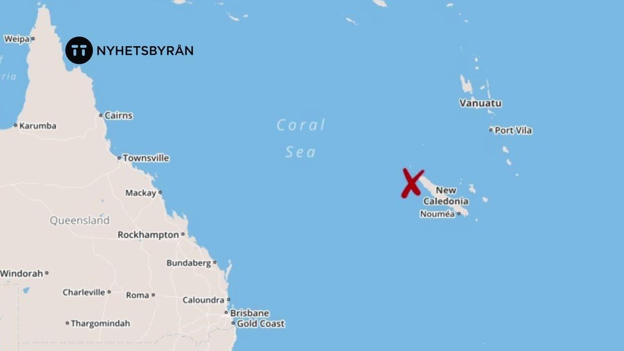 Kraftigt skalv utanfor nya zeeland