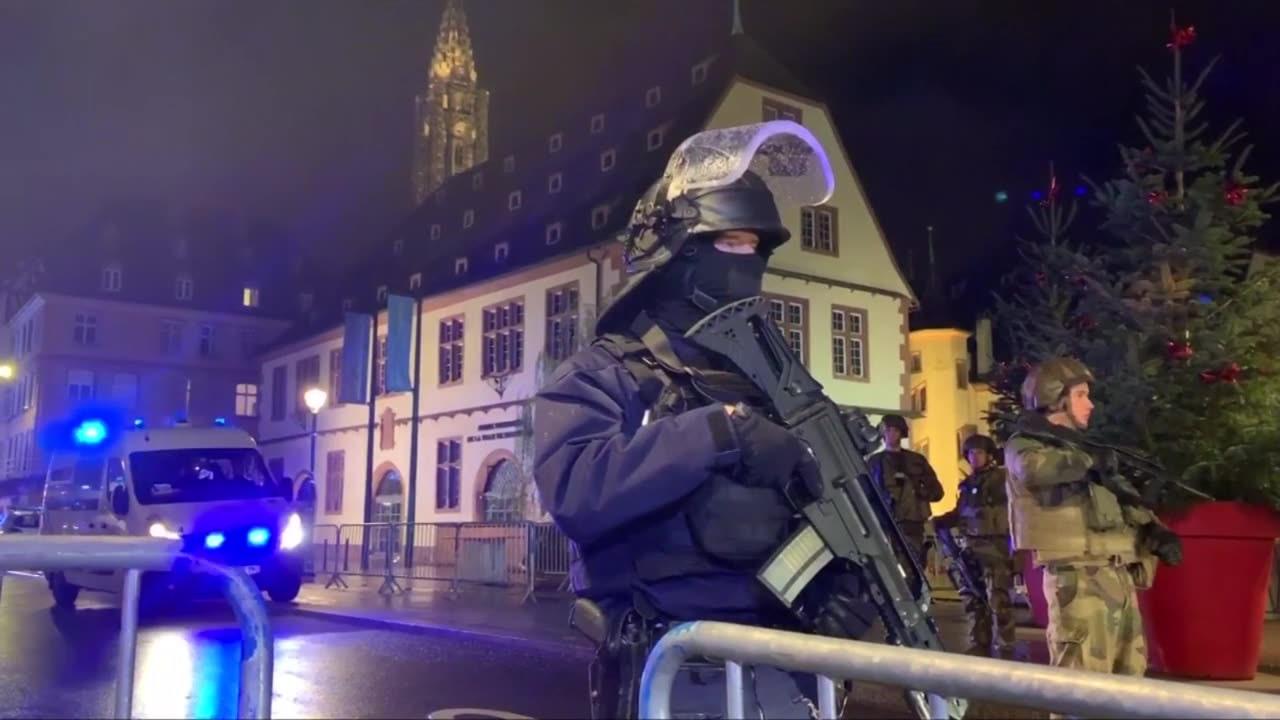 Man sköt vid julmarknad i Strasbourg – flera döda