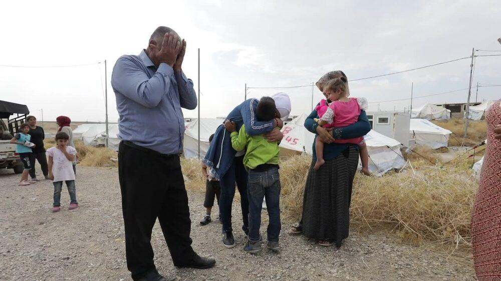 Cancersjuka Haida tvingades lämna sitt hem när Turkiets offensiv inleddes