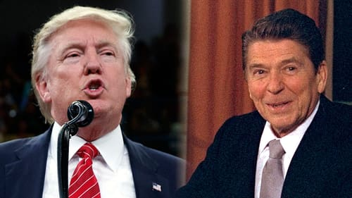 Donald Trump och Ronald Reagan.