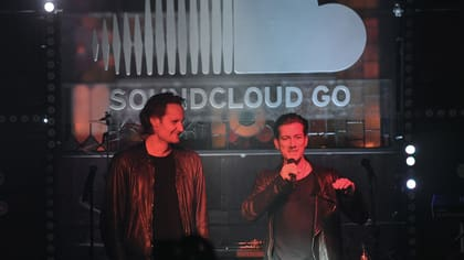 Soundcloud's two founders, Eric Wahlforss (left) and Alexander Ljung at the launch