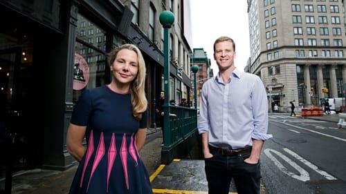 Sophie Stenbeck, äldre syster till avlidne Max Stenbeck, med sin nya affärspartner Ryan Darnell utanför kontoret i New York.