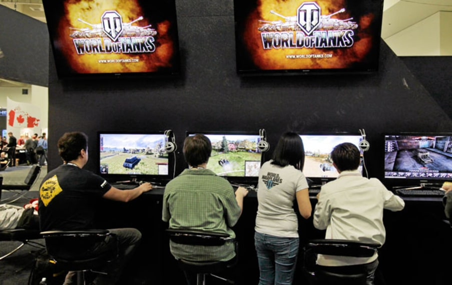 """World of tanks"" spelas på GDC."