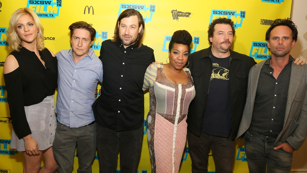 """Vice Principals"" : Georgia King, David Gordon Green, Jody Hill, Kimberly Hebert Gregory, Danny McBride och Walton Goggins."