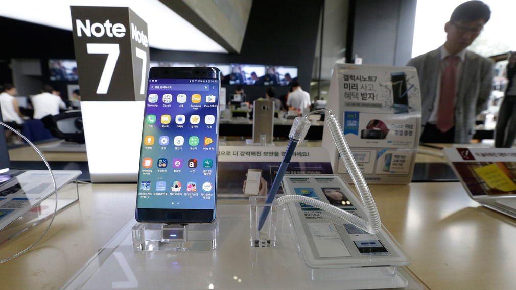 Samsungs mobil Galaxy Note 7-