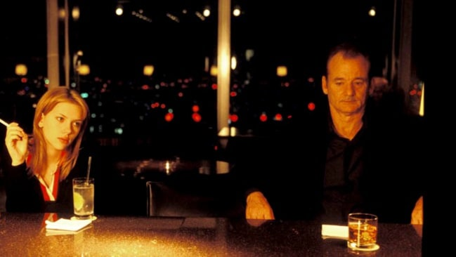 "Scarlett Johansen och Bill Murray i ""Lost in translation""."