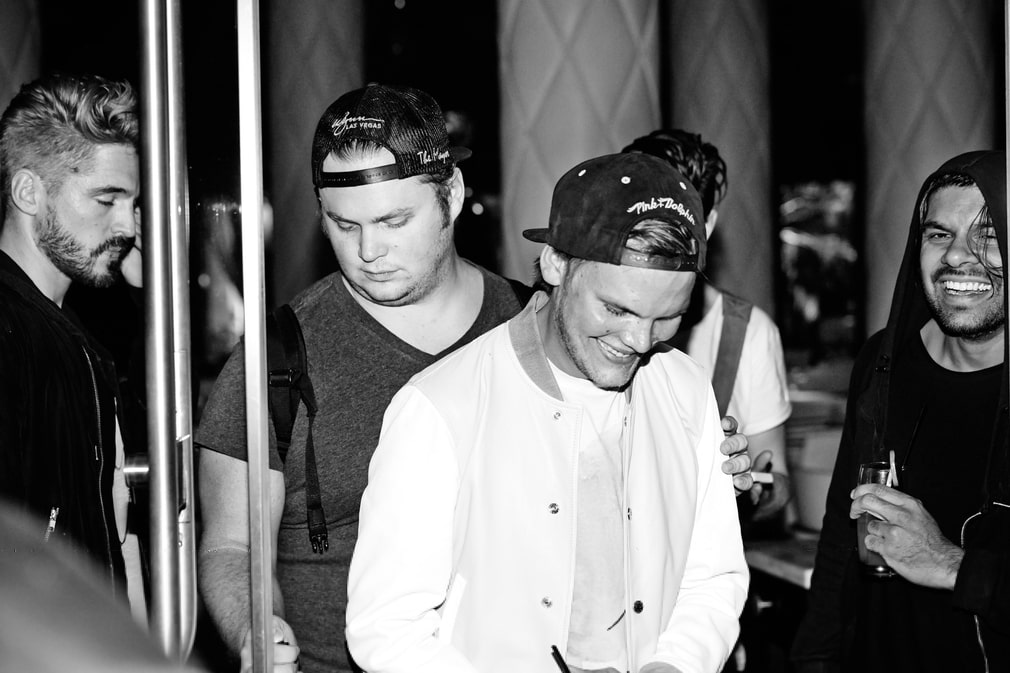 Tim Bergling with his friends.