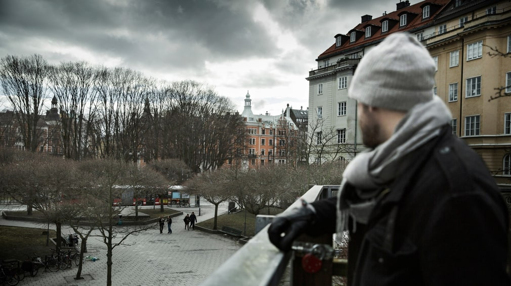 Karlaplan in Stockholm, where Fricko Broberg and Tim Berglin would hang out as they grew up.