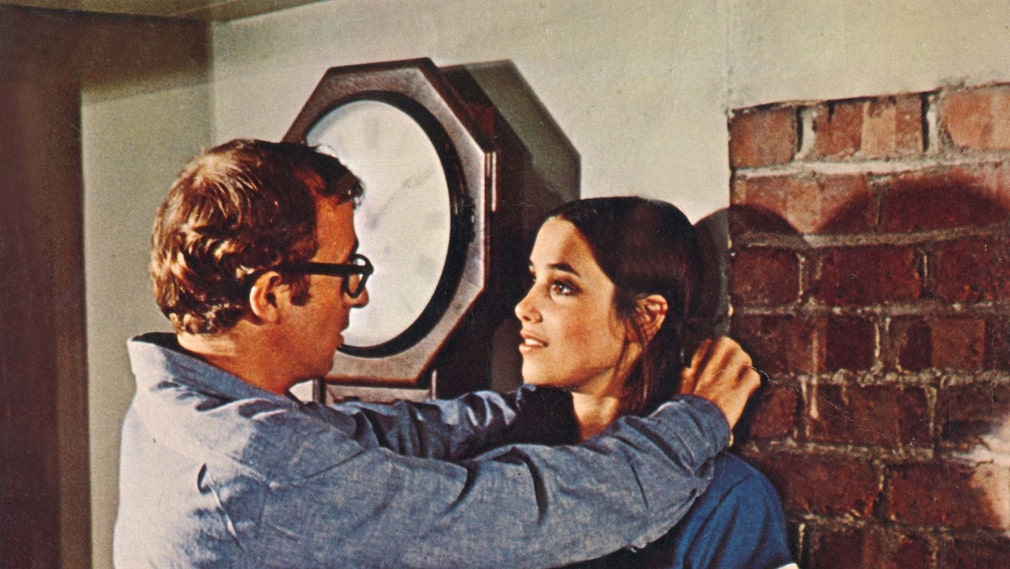 "Woody Allen och Janet Margolin i ""Take the money and run""."