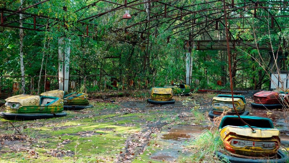 Den övergivna nöjesparken i Pripjat.