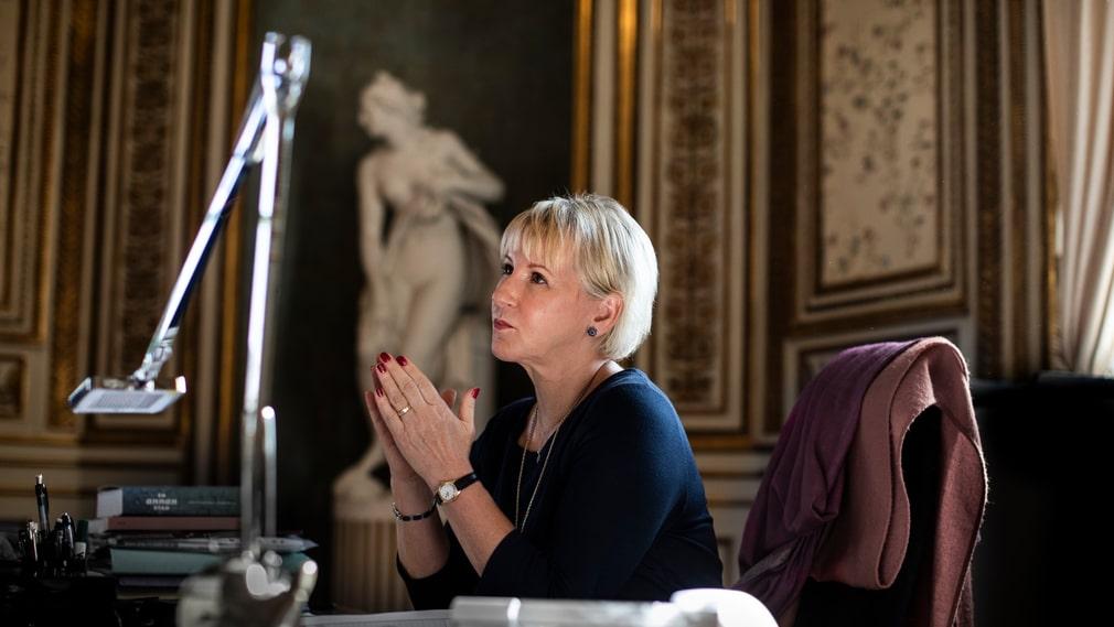 Utrikesminister Margot Wallström på sitt kontor i Arvfurstens palats.