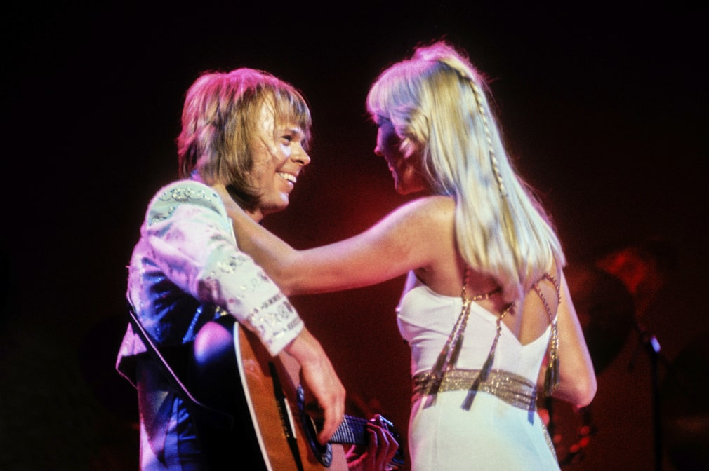 Abba at their concert at Wembley, London in 1979. They went to Australia that same year.